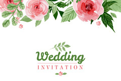 Link toWatercolor floral wedding invitation poster vector graphics