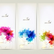 Link toWatercolor floral woman creative design 04 free