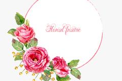 Link toWatercolor flower frame vector
