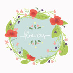 Link toWatercolor flower ring background vector