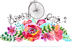 Watercolor flower text background vector