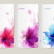 Link toWatercolor flower vertical banner design 01 free