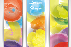 Watercolor graffiti background vector