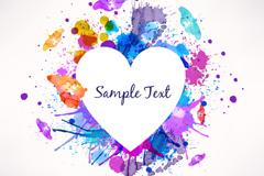 Link toWatercolor ink love vector