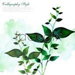 Link toWatercolor leaf plants psd