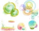 Watercolor motif vector