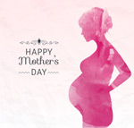 Link toWatercolor on mother's day greeting cards vector