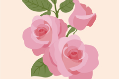 Link toWatercolor pink roses vector