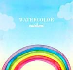 Link toWatercolor rainbow background vector