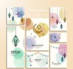 Link toWatercolor ramadan cards vector