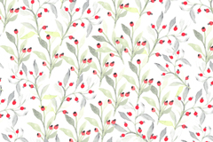Link toWatercolor red floral seamless background vector