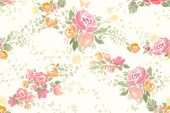 Link toWatercolor rose background vector