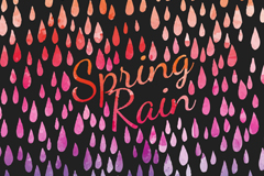 Link toWatercolor spring rain background vector