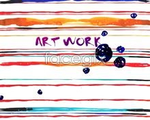 Link toWatercolor style hand-painted decorative english line of colourful psd