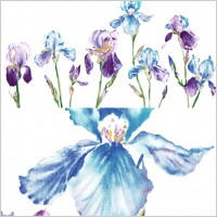 Link toWatercolor style orchid flower psd layered