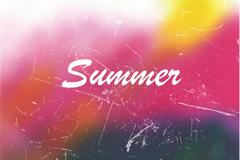 Link toWatercolor summer retro background vector