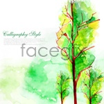 Link toWatercolor trees psd