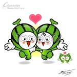 Link toWatermelon cartoon dolls vector