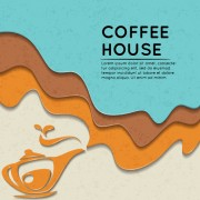 Link toWave coffee house background vector 01 free