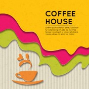 Link toWave coffee house background vector 02 free