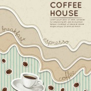 Link toWave coffee house background vector 03 free