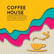 Link toWave coffee house background vector 04 free