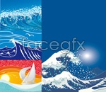 Link toWave theme vector
