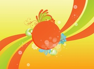 Link toWaves and flowers vector free