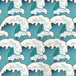 Link toWaves seamless background vector