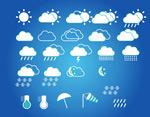Weather forecast symbols vector