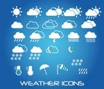 Weather forecast weather symbols vector