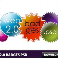 Link toWeb 2.0 badges free psd