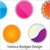 Link toWeb 2.0 badges vector