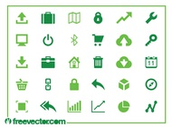 Web and technology icons vector free