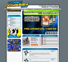 Link toWeb design: comic odyssey
