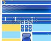 Link toWeb design elements vector -decoration, buttons, navigation bars