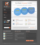 Link toWeb design template elements