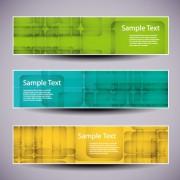 Link toWeb header abstract banner vector set 02 free