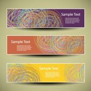 Link toWeb header abstract banner vector set 03 free