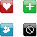 Link toWeb icon button set