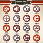 Link toWeb icons round vector set 01