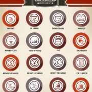 Link toWeb icons round vector set 03