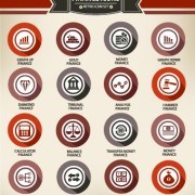 Link toWeb icons round vector set 04