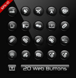 Link toWeb page buttons icons vector