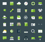 Link toWeb page icons vector