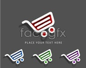 Link tovector icon cart shopping page Web