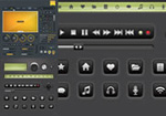 Link toWeb player buttons vector