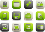 Link toWeb site icons vector