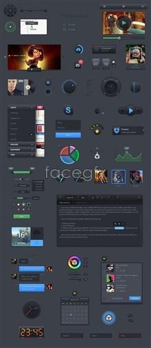 Link toWeb site ui design theme pack psd