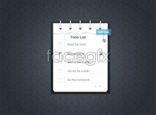 Link toWeb task list ui design interface psd source file